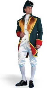 Early America Colonial General Man Costume