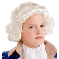Child George Washington White Wig for Kids