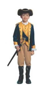 Kid George Washington Patriot Boy Costume