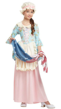 Patriotic Colonial Girl Costume