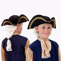 Kids Colonial George Washington Hat with Wig