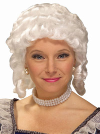 Economy Colonial Woman Wig for Halloween