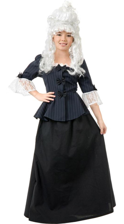 Deluxe Child Mrs Martha Washington Costume Dress for Girls