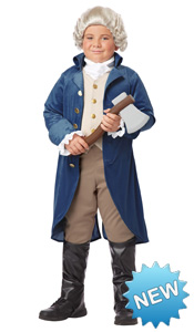 Kid George Washington Costume for boys