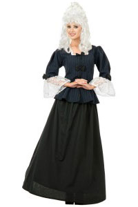 Martha Washington Colonial Woman Costume Halloween