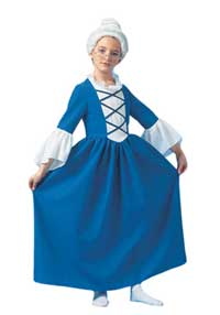 Kids Martha Washington Costume 11297